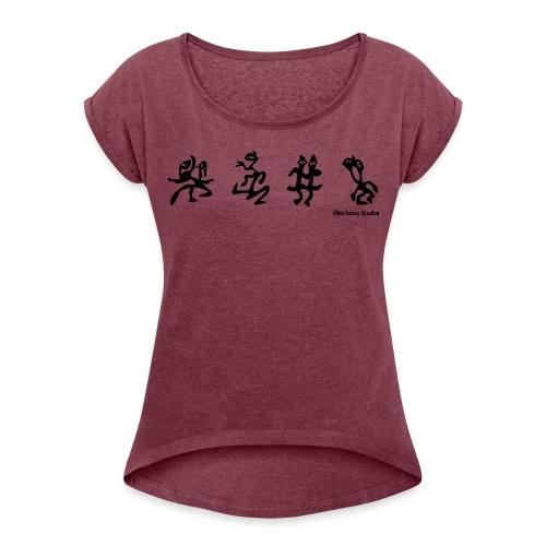 Dance_art - Dame T-shirt med rulleærmer