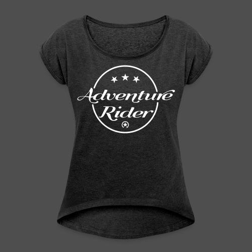 Adventure Rider - Koszulka damska z lekko podwiniętymi rękawami