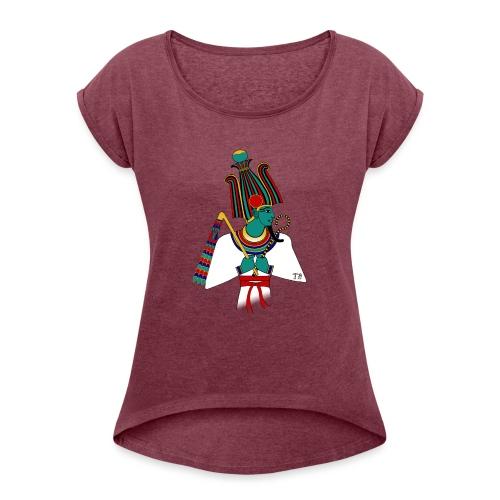 ÄGYPTEN - Osiris - altägyptische Gottheit - Frauen T-Shirt mit gerollten Ärmeln