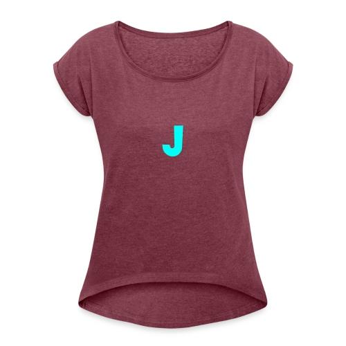 Jeffke Man T- Shirt - Vrouwen T-shirt met opgerolde mouwen