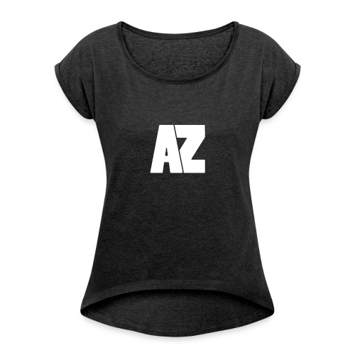 Androklez White Text - Women's T-Shirt with rolled up sleeves