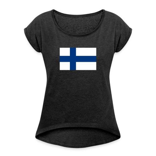 Infidel - vääräuskoinen - Naisten T-paita, jossa rullatut hihat