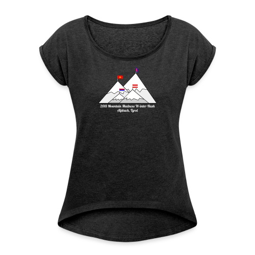 2018 W inter hash logo - Women's T-Shirt with rolled up sleeves