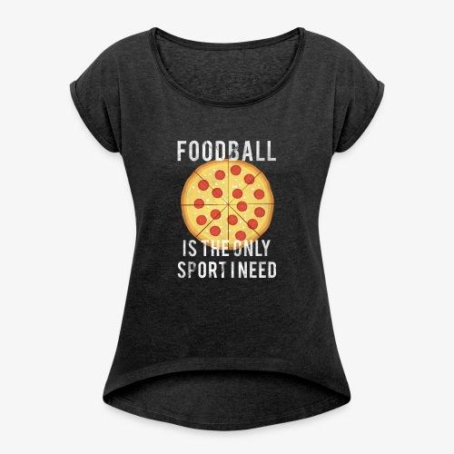 Foodball - Maglietta da donna con risvolti