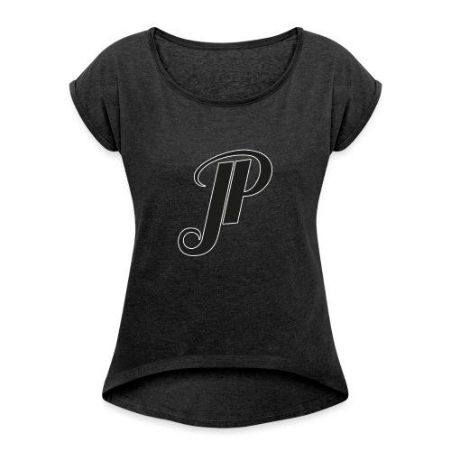 JessicaParish Logo - Frauen T-Shirt mit gerollten Ärmeln