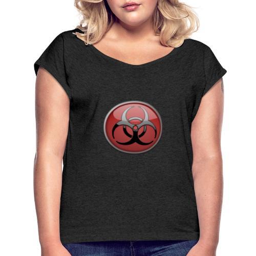 DANGER BIOHAZARD - Frauen T-Shirt mit gerollten Ärmeln