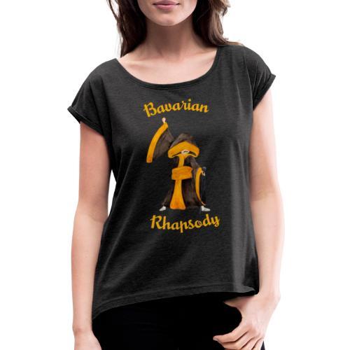 Münchner Mercury Kindl – Tribute to Freddie - Frauen T-Shirt mit gerollten Ärmeln