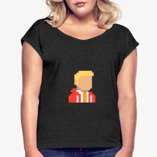 Logo Adriancastello5/Adcapo5 - Camiseta con manga enrollada mujer