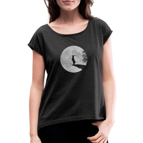 Wolfinchen hase kaninchen häschenosterhase bunny - Frauen T-Shirt mit gerollten Ärmeln