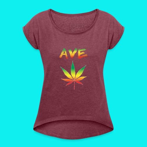 AveMarija - Maglietta da donna con risvolti