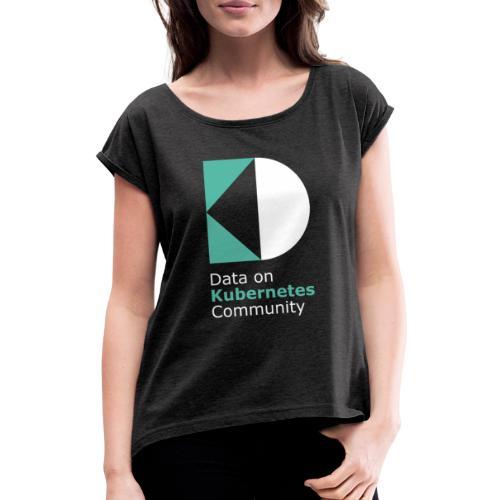 logoDockOK - Camiseta con manga enrollada mujer
