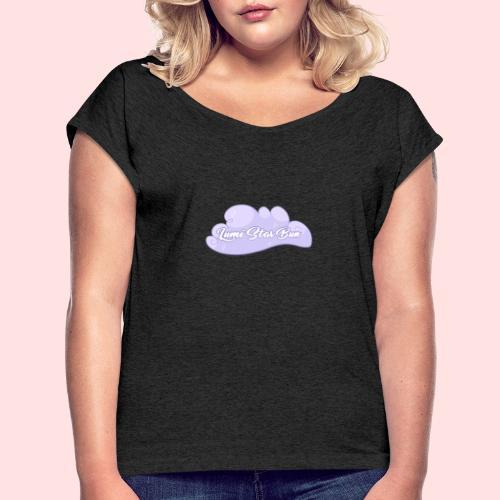 Cloud - T-shirt med upprullade ärmar dam