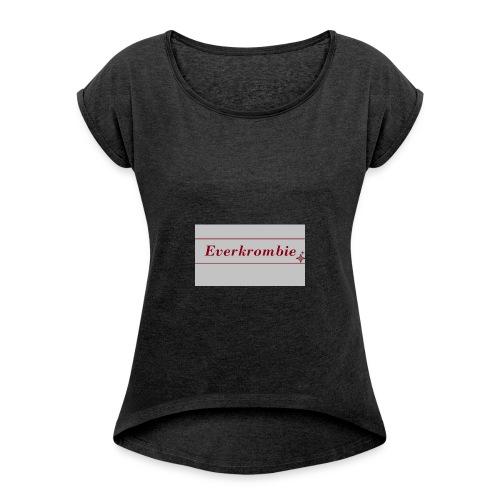 Everkrombie - Frauen T-Shirt mit gerollten Ärmeln