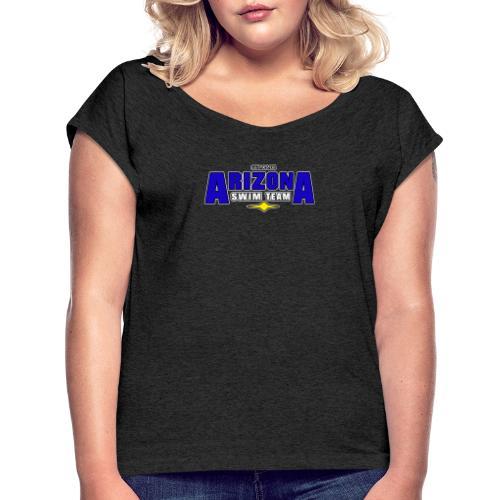 Arizona Swim Team - Frauen T-Shirt mit gerollten Ärmeln