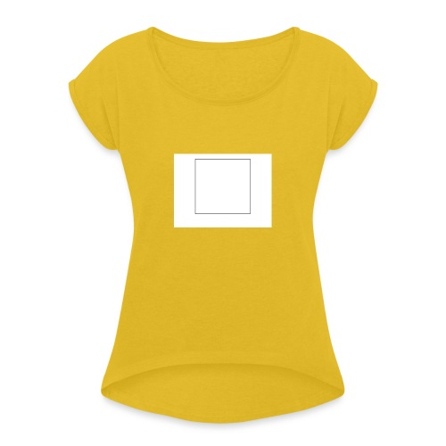 Square t shirt - Vrouwen T-shirt met opgerolde mouwen