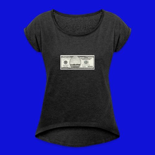 Dollar s6 - T-shirt med upprullade ärmar dam