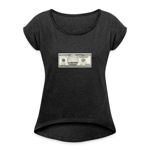 s6 dollar - T-shirt med upprullade ärmar dam