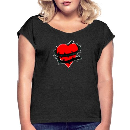 cuore ingrato - Camiseta con manga enrollada mujer