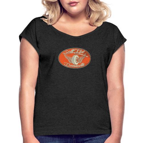 Salt Flat Racing Bonneville - Frauen T-Shirt mit gerollten Ärmeln