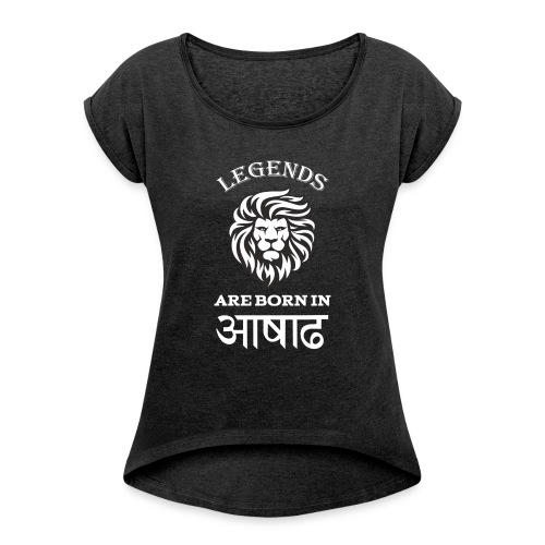 Asar, the third month of Nepali Calender - Women's T-Shirt with rolled up sleeves