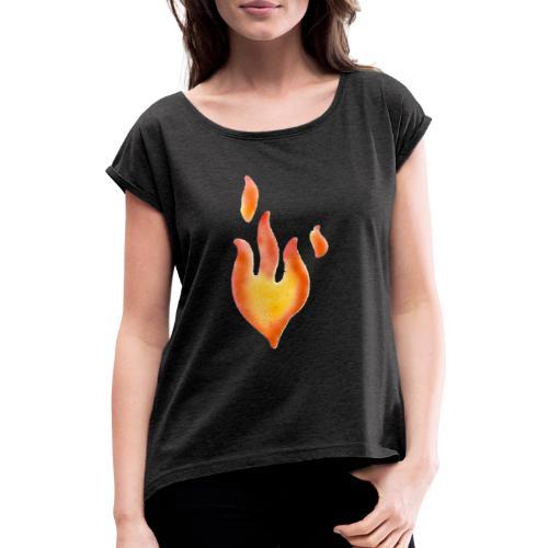 Fiamma - Maglietta da donna con risvolti