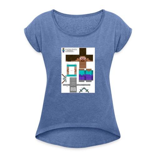 8bf7a61eb4b7f9db371452673ac05401 1 - Vrouwen T-shirt met opgerolde mouwen