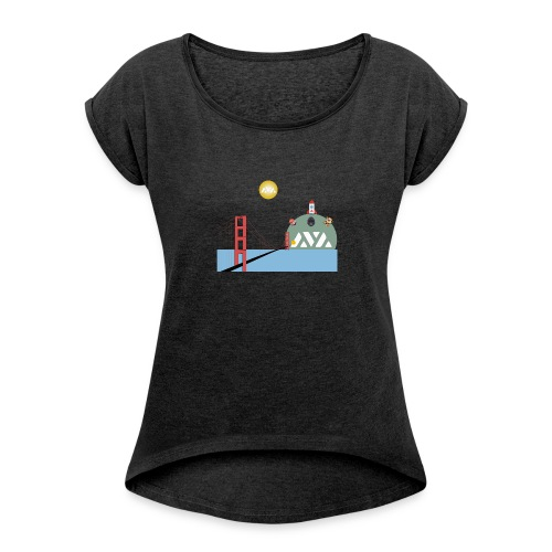 Avalanche Good Bridging to walhalla - Vrouwen T-shirt met opgerolde mouwen