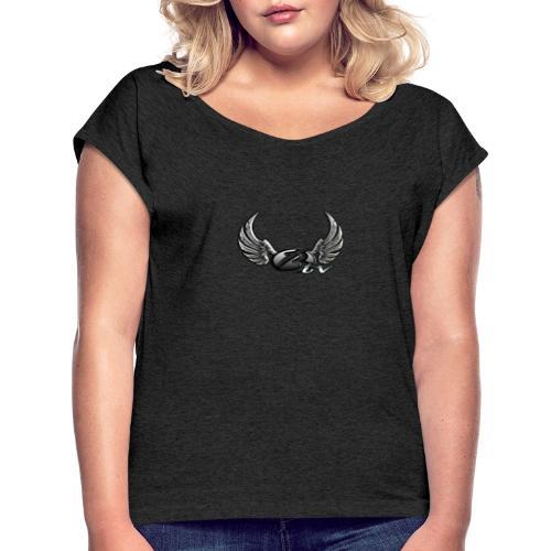 BlackiB13 - Frauen T-Shirt mit gerollten Ärmeln