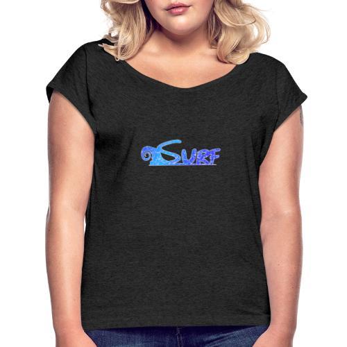Waves for Surf - Maglietta da donna con risvolti