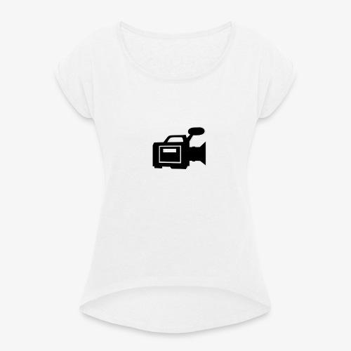 camera - Dame T-shirt med rulleærmer