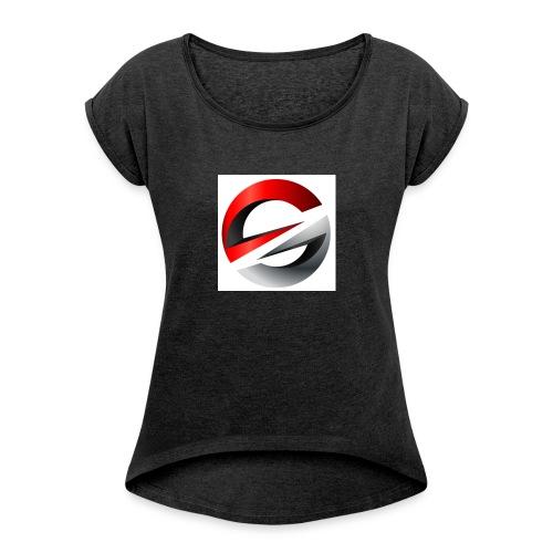 PicsArt 06 04 07 59 03 - Frauen T-Shirt mit gerollten Ärmeln