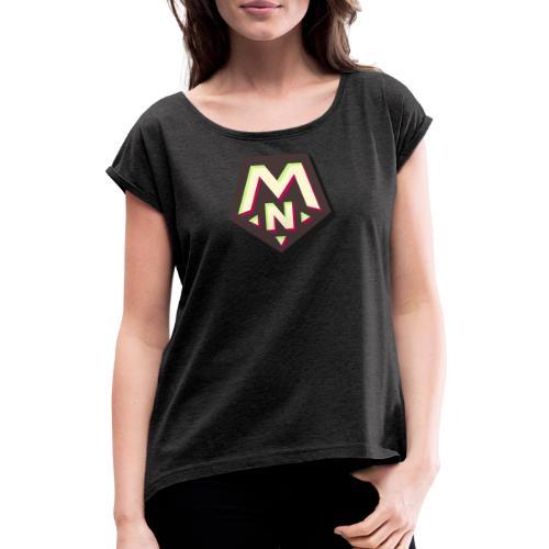 PentaMike TikTok theme - T-shirt med upprullade ärmar dam