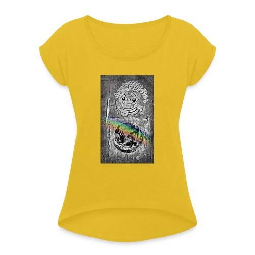 Universe love - T-shirt à manches retroussées Femme