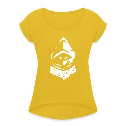 Team 1229X Logo - Naisten T-paita, jossa rullatut hihat