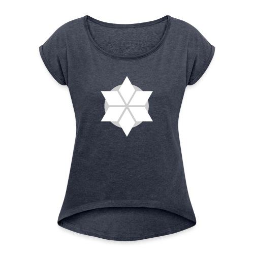 Morgonstjärnan - T-shirt med upprullade ärmar dam