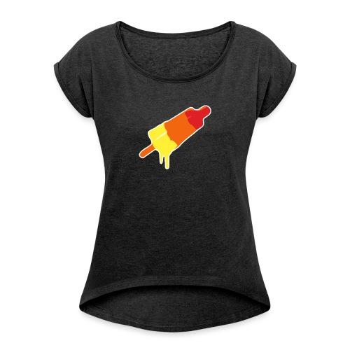 Raket - Vrouwen T-shirt met opgerolde mouwen