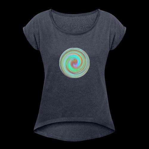 Illusion d'optique - T-shirt à manches retroussées Femme