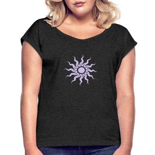The Sun - Frauen T-Shirt mit gerollten Ärmeln