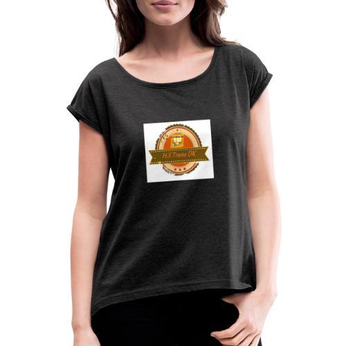 Hjarne 2 - Dame T-shirt med rulleærmer
