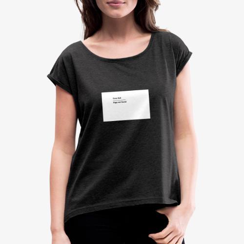 Error 4o4 - T-skjorte med rulleermer for kvinner