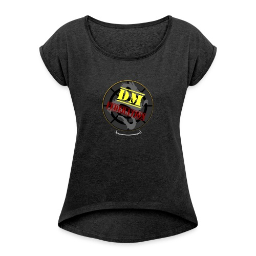 DM Federation Logo - Camiseta con manga enrollada mujer