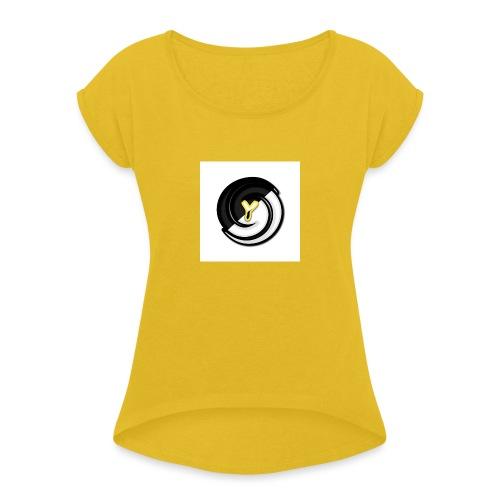 Lince980 - Camiseta con manga enrollada mujer