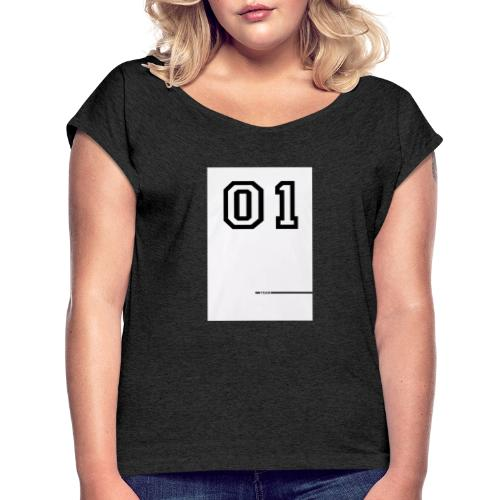 20200305 195919 - Frauen T-Shirt mit gerollten Ärmeln