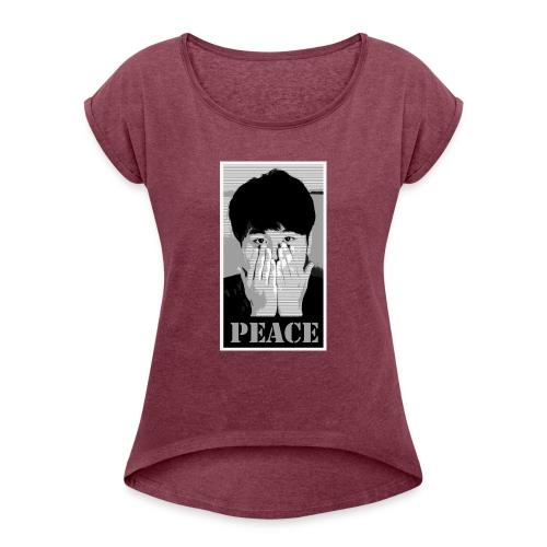 look - T-shirt à manches retroussées Femme