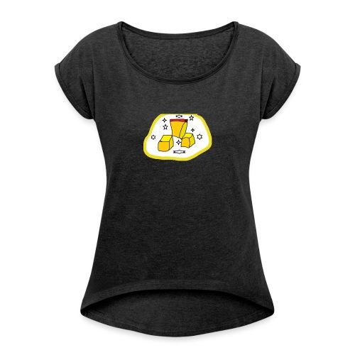 The Golden Dong - Women's T-Shirt with rolled up sleeves