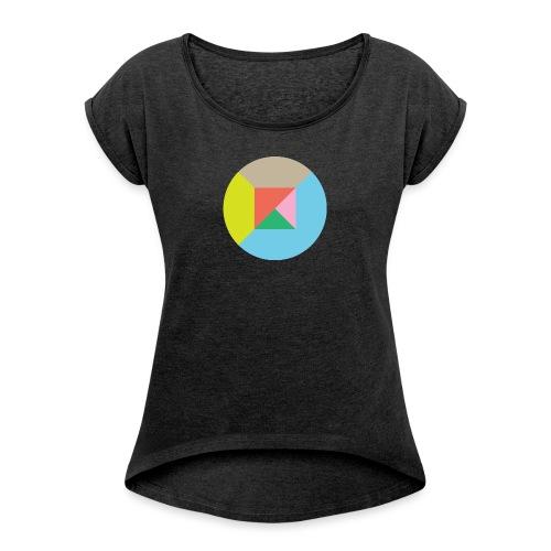 volguat bildzeichen - Frauen T-Shirt mit gerollten Ärmeln