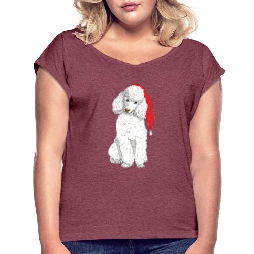 Poodle toy W - christmas - Dame T-shirt med rulleærmer