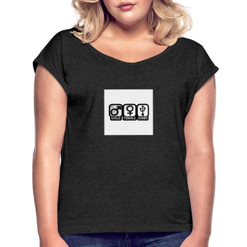 3000395 0 - Frauen T-Shirt mit gerollten Ärmeln