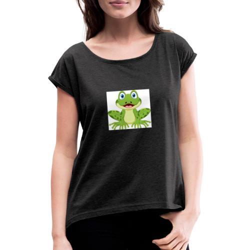 rana - Maglietta da donna con risvolti