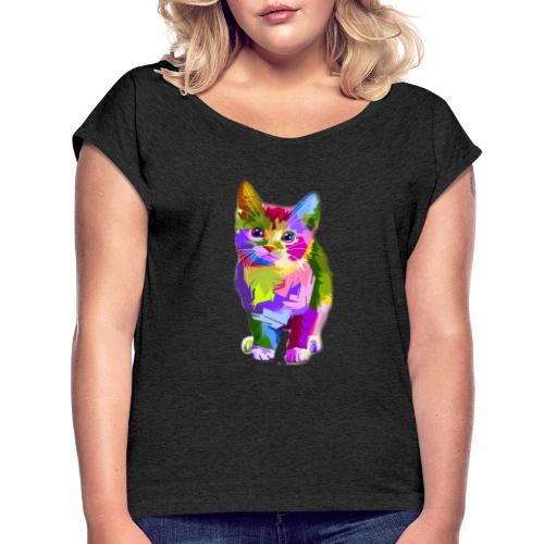 Gattino - Maglietta da donna con risvolti